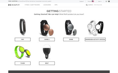 Screenshot of Support Page misfit.com - Misfit | Wearables, Activity Trackers, Fitness and Sleep Monitors - captured Aug. 5, 2016