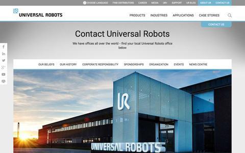 Contact info | Universal Robots