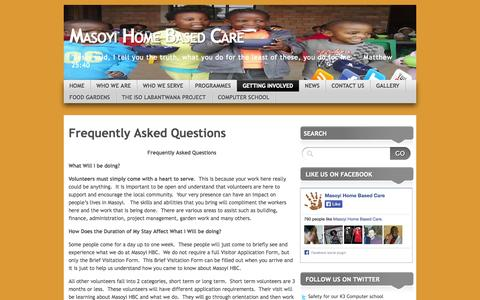 Screenshot of FAQ Page masoyihomebasedcare.com - Frequently Asked Questions | Masoyi Home Based Care - captured Oct. 27, 2014