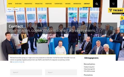 Screenshot of Contact Page trebbe.nl - Contact - captured Dec. 14, 2016