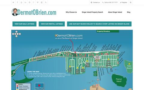Screenshot of Home Page islandsrealty.com - Singer Island Rentals | Condos for Sale – Islands Realty - captured March 6, 2016