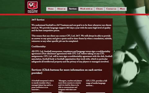 Screenshot of Services Page footballinterpreter.com - Footballinterpreter | Services - captured Sept. 28, 2018