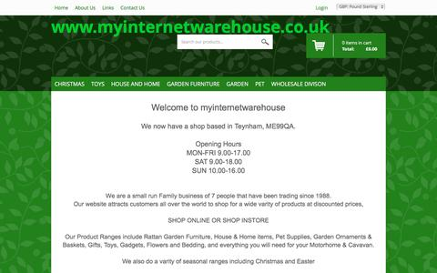 Screenshot of About Page myinternetwarehouse.co.uk - myinternetwarehouse About Us - captured Jan. 12, 2016