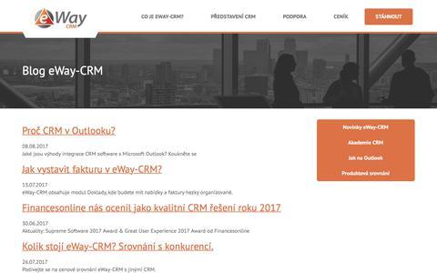 Screenshot of Blog eway-crm.com - eWay Blog - Office a CRM pod kontrolou - CRM pro Outlook - captured Sept. 15, 2017
