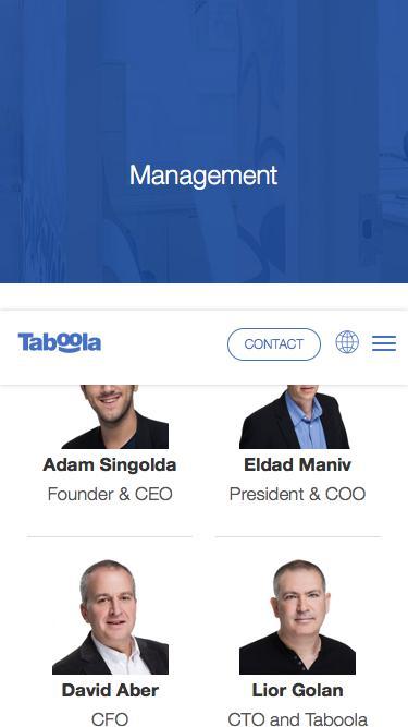 Screenshot of Team Page  taboola.com - Management | Taboola.com