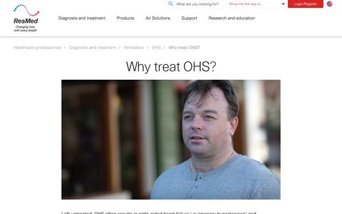 Why treat OHS? | ResMed