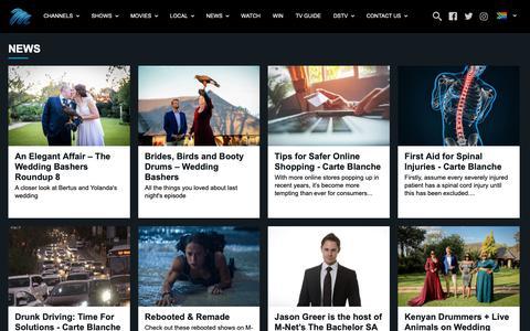 Screenshot of Press Page dstv.com - M-Net - It's Magic - M-Net News - captured Dec. 4, 2018