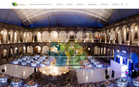 Screenshot of Home Page graduacion.com.mx - Graduaciones México www.Graduacion.com.mx | Eventos, Fiestas, Graduaciones. - captured Jan. 23, 2015