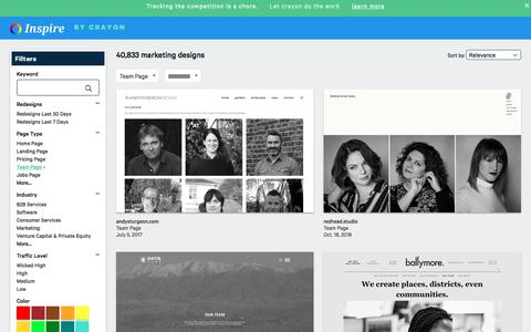 Screenshot of Team Page crayon.co - Team Pages | Website Inspiration and Examples | Crayon - captured Nov. 26, 2019