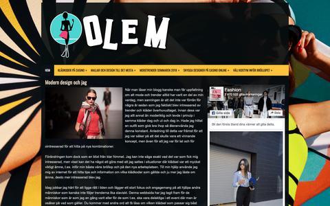 Screenshot of Home Page olem.se - Modern design och jag - olem.se - captured Oct. 19, 2018