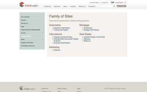 CoreLogic | Family of Sites