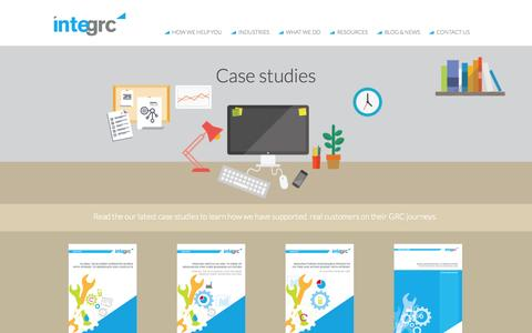 Screenshot of Case Studies Page integrc.com - Case studies - captured Oct. 6, 2014