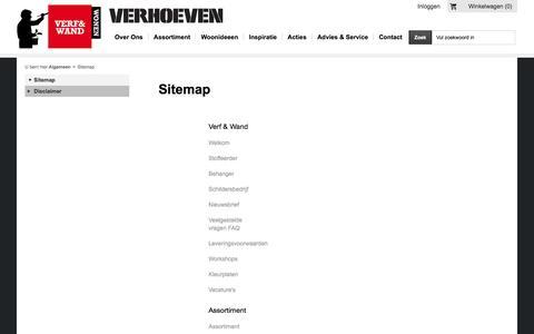 Screenshot of Site Map Page verhoeven-verfenwand.nl - Sitemap - Verf & Wand - captured Dec. 3, 2016