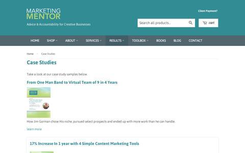 Screenshot of Case Studies Page marketing-mentor.com - Case Studies – Marketing Mentor - captured May 28, 2017
