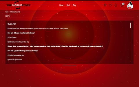 Screenshot of FAQ Page themobilestore.in - TheMobileStore FAQ - captured June 20, 2017