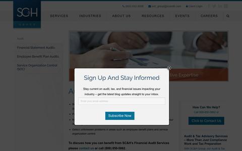 Financial Audit Services | SC&H Group
