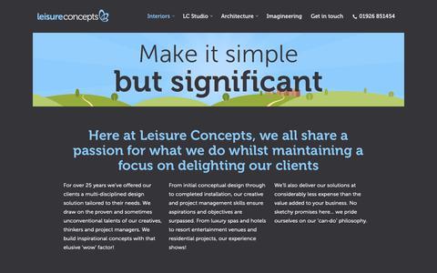 Screenshot of Case Studies Page leisureconcepts.co.uk - Interiors – Leisure Concepts Ltd - captured Sept. 28, 2018