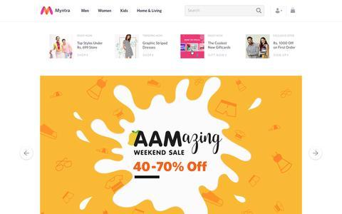 Screenshot of Home Page myntra.com - Online Shopping Site - Shop for Men, Women & Kids Fashion - Myntra - captured May 6, 2017