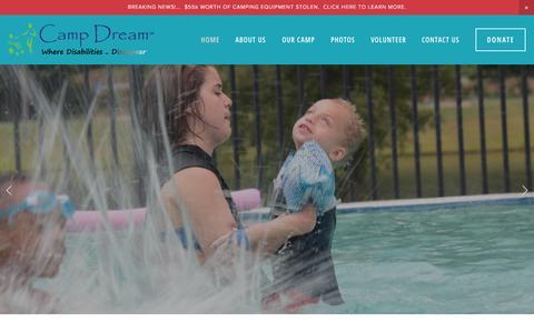 Screenshot of Home Page campdreamga.org - Camp Dream - captured Sept. 24, 2015