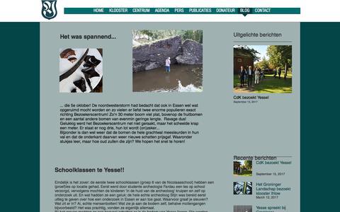 Screenshot of Blog kloosteryesse.nl - kloosteryesse | BLOG - captured Oct. 24, 2017