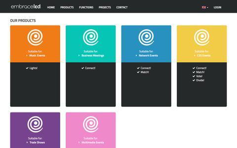 Screenshot of Products Page embraceled.com - Embraceled - captured July 31, 2017