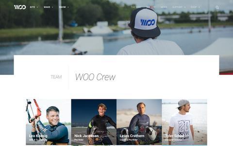 Screenshot of Team Page woosports.com - Team - WOO Sports - captured Nov. 4, 2018