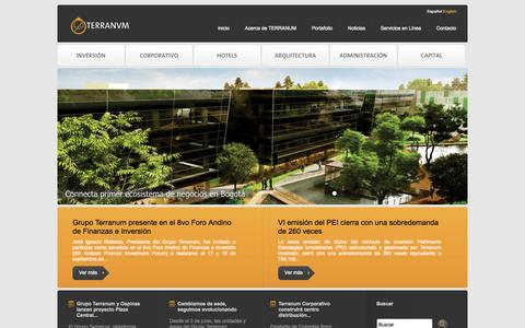 Screenshot of Home Page terranum.com - Terranum - captured Sept. 23, 2014