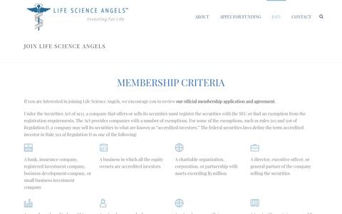 Screenshot of Signup Page lifescienceangels.com - Join Life Science Angels - About LSA Membership - captured Dec. 9, 2015