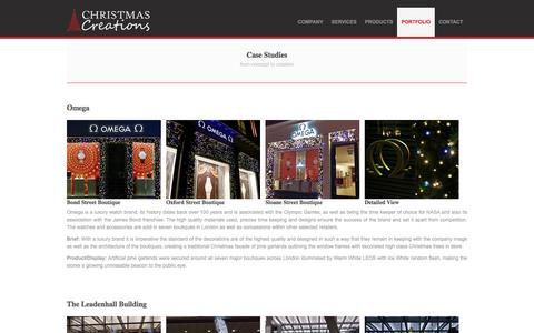 Screenshot of Case Studies Page christmas-creations.com - Christmas Creations - Case Studies - captured Nov. 5, 2016