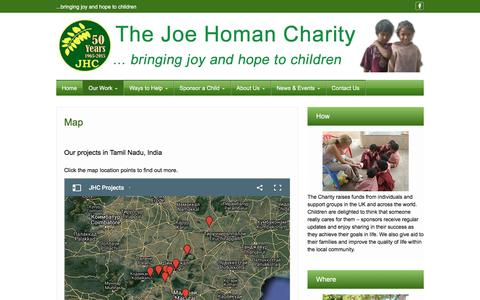 Screenshot of Maps & Directions Page joehoman.org.uk - Map - The Joe Homan Charity - captured June 29, 2018