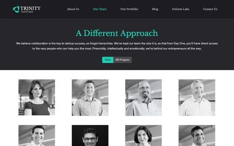 Screenshot of Team Page trinityventures.com - Our Team - Trinity Ventures - captured Sept. 18, 2014