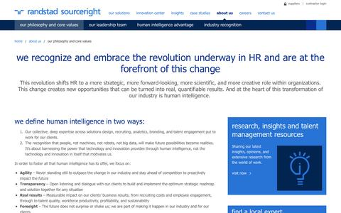 Our Philosophy and Core Values | Randstad Sourceright
