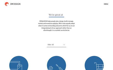 Screenshot of Services Page omdesign.co.uk - Web Design Services London - OMdeSIGN Agency - captured Oct. 16, 2017