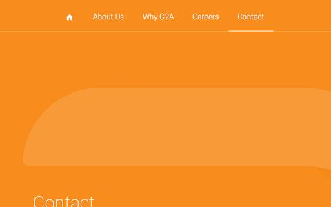 Screenshot of Contact Page g2a.co - G2A - captured Jan. 24, 2016