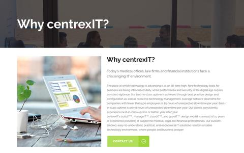 Screenshot of centrexit.com - Why centrexIT? - San Diego's Leader in IT Management and IT Consulting - centrexIT - captured Oct. 4, 2016
