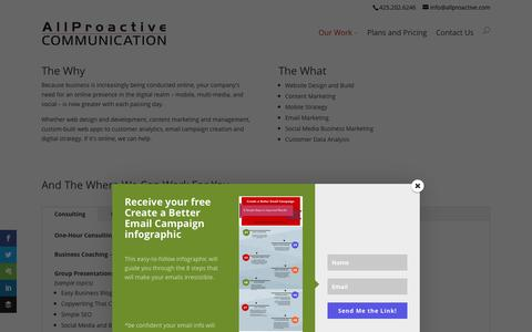 Screenshot of Services Page allproactivecommunication.com - AllProactive Communication Content Marketing Solution - captured Dec. 24, 2015