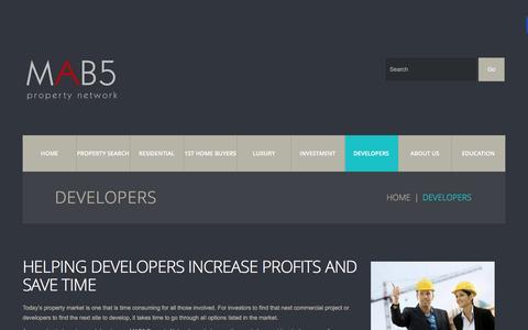 Screenshot of Developers Page mab5.com.au - Developers  |  MAB5 - captured Feb. 2, 2016