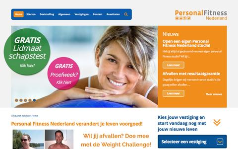 Screenshot of Home Page personalfitnessnederland.nl - Claim nu Jouw Gratis Proefweek Personal Training - captured July 12, 2016