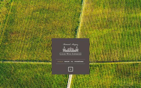 Screenshot of Home Page luxurywineexperience.fr - Bernard Magrez Luxury Wine Experience  - Agence réceptive Haut de gamme - captured Sept. 10, 2015