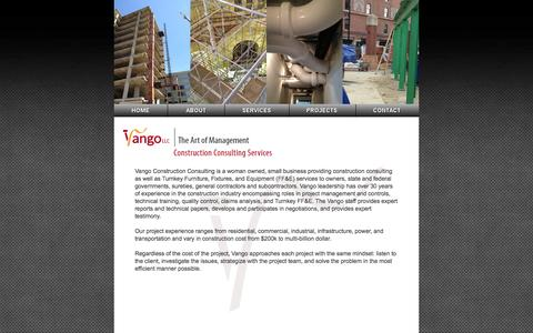 Screenshot of About Page vangoconsulting.com - Vango LLC - Construction Consulting Services - captured Oct. 9, 2014