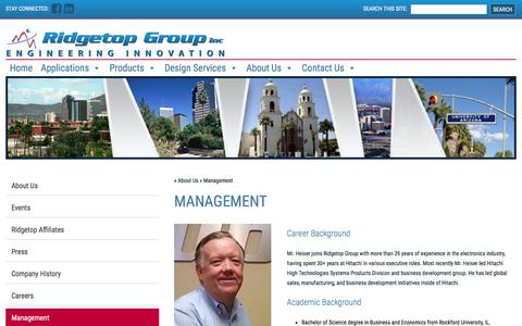 Screenshot of Team Page ridgetopgroup.com - Management - Ridgetop Group - captured Sept. 21, 2018