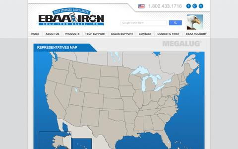 Screenshot of Maps & Directions Page ebaa.com - EBAA Iron, Inc. - Leaders in Pipe Joint Restraint and Flexible Expansion Joints - captured Oct. 1, 2014