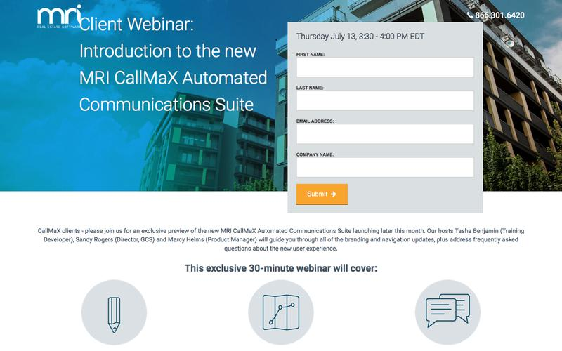 Introduction to the new MRI CallMaX Automated Communications Suite