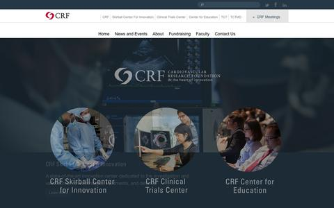 Screenshot of Home Page crf.org - CRF - captured Sept. 25, 2014