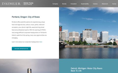 Screenshot of Locations Page daimler-trucksnorthamerica.com - Daimler Trucks North America | Daimler - captured Oct. 23, 2019