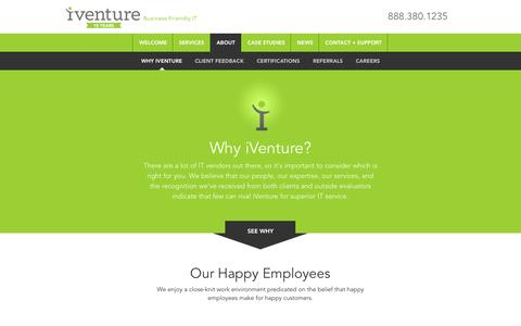 Screenshot of About Page iventuresolutions.com - Orlando IT Services | Jacksonville IT Consultants - captured Nov. 17, 2015