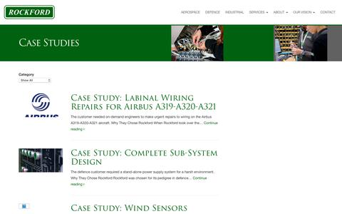 Screenshot of Case Studies Page rockford.co.uk - Case Studies Archive | Rockford | Wiring Harness & Cable Assembly Manufacturer UK - captured Oct. 18, 2018
