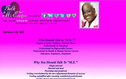 Screenshot of Services Page talktomse.com - Talk To Ms. E - captured Nov. 6, 2016