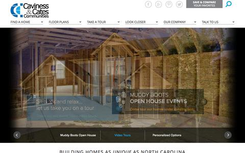 Screenshot of Home Page cavinessandcates.com - Fayetteville North Carolina Home Builder | Caviness and Cates Builders - captured Oct. 2, 2014