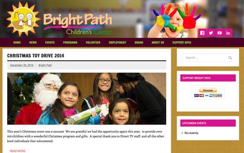 Screenshot of Press Page brightpathcenter.org - News Archives - Bright Path Children's Center - captured Feb. 8, 2016